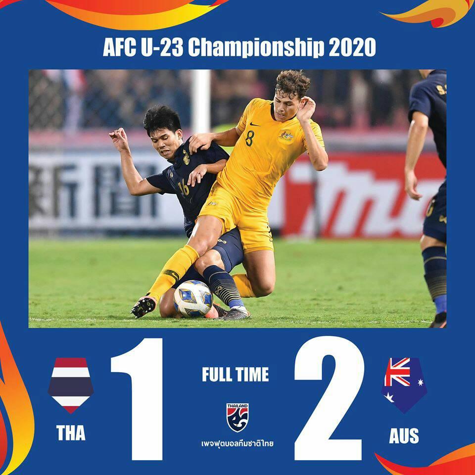 """""""ออสซี่""""แซงชนะ! """"ออสเตรเลีย"""" แซงชนะ """"ทีมชาติไทย"""" 2-1 ศึกชิงแชมป์เอเชีย 2020 U23"""