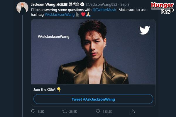 """""""แจ็คสัน - GOT7"""" กับ #AskJacksonWang เป็นแฮชเท็กยอดนิยมแล้วจ้า ข่าวดารา ข่าวบันเทิง ข่าวออนไลน์ แจ็คสันGOT7 AskJacksonWang"""