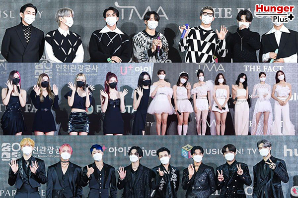 รายชื่อศิลปินและนักแสดงที่ชนะรางวัลใน The Fact Music Awards ปี 2021